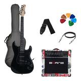 Kit Guitarra Tagima Woodstock Tg500 Bk Strato G30 London