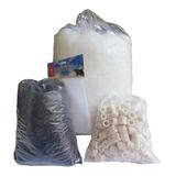 Kit Mídias Filtragem 1kg Cerâmica, 1kg Carvão 1m Lã+ 2bolsas