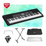 Kit Teclado Casio Ctk2550 Musical 5/8 Completo Capa Preta