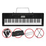 Kit Teclado Casio Ctk3500 Arranjador Musical 5/8 Completo