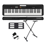 Kit Teclado Casio Tone Ct-s200 Musical 61 Teclas Com Suporte