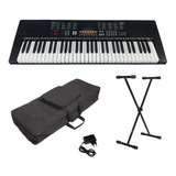 Kit Teclado Musical Estudante Keypower Kp100 + Capa Suporte