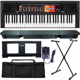 Kit Teclado Musical Yamaha Psr-f51 61 Teclas 114 Estilos Nf