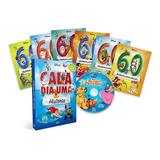 Livro Box Disney Cada Dia Uma Historia 6 Livros E Cd De Hist