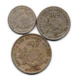Lote Com 3 Moedas De 1901 - Série Mcmi - Moedas Antigas Réis