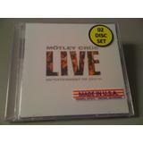 Mötley Crüe Live Entertainment Or Cd Lacrado Duplo Importado
