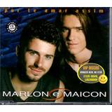 Marlon E Maicon Cd Single Por Te Amar Assim   Raro