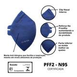 Mascara Pff1 N95 Respirador Hospitalar Proteção Inmetro E Ca