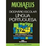 Michaelis Dicionário Escolar Português   Com Cd rom   Melh