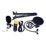 Microfone Com Acessórios Knup Kp-m0010 Condensador Cardióide