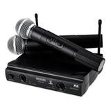 Microfone Pgx-58 Sem Fio Duplo Profissional Igreja Karaoke