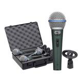 Microfones Mxt Bt-58a Kit Dinâmico