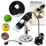 Microscópio Digital Com Cabo Usb E Cd De Instalação 500x