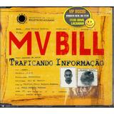 Mv Bill Cd Single Promo Traficando Informação   Raro