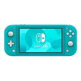 Nintendo Switch Lite 32gb Standard Cor Azul-turquesa