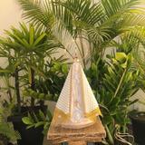 Nossa Senhora Aparecida Perola 30cm Com Coroa Folheada