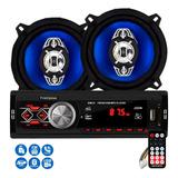 Par Alto Falante 5 Polegadas 4x25w E Radio Mp3 Bluetooth Usb Sd Carro Universal