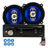 Par Alto Falante 5 Polegadas 4x25w E Radio Mp3 Bluetooth