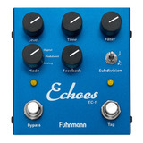 Pedal Guitarra Fuhrmann Echoes-tapdelay Ec01 Azul Tap Delay