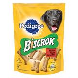Petisco Para Cães Adultos Raças Grandes Leite Pedigree Biscrok Pouch 1kg