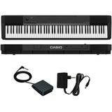 Piano Digital Casio Cdp 135bk 88 Teclas Cdp135 Pedal+fonte