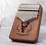 Piano Thumb 17 Key Kalimba Marrom Mogno
