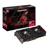 Placa De Vídeo Radeon Power Color Rx570 4gb Red Dragon Dual