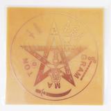 Placa Tetragrammaton M - Gráfico Em Cobre