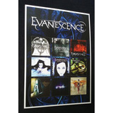 Poster De Colecão Evanescence Discografia  Amy Lee Banda Cd