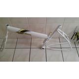 Quadro De Bicicleta Modelo Maria Mole Cor Branco Aro 26