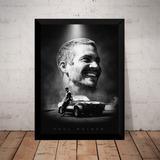 Quadro Paul Walker Velozes E Furiosos Arte Poster Moldurado