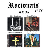 Racionais Mc s Kit Com 4 Cd s Novos