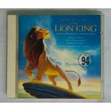 Rei Leão   Trilha Sonora Do Filme Lion King Cd Inglês Disney