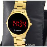 Relógio Lince Feminino Digital Dourado Mdg4618l Vxkx