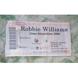 Robbie Williams Ingresso Turnê Close Encounters 2006 Rj