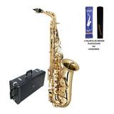 Sax Alto Eagle Sa501 Saxofone Em Mib Laqueado + Nota Fiscal