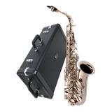Saxofone Sax Alto Eagle Sa500n Niquelado Mib Completo+estojo