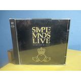 Simple Minds Live Cd Duplo Importado Holandês Pop Rock