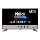 Smart Tv Philco 43e10n5f Led Full Hd 43 C/ Mídia Cast