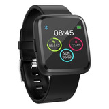 Smartwatch Tedge H1104a 1.3 Caixa Preta Pulseira Preta De Plástico E O Arco De Liga De Zinco H1104a