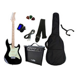 Super Kit Guitarra Strato Strinberg Sts100+ Cubo +acessórios
