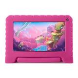 Tablet Com Capa Multilaser Kid Pad Lite Nb30 7 16gb Rosa Com Memória Ram 1gb