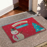 Tapete Capacho Divertido Natal Christmas Papai Noel Cd1275