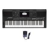 Teclado Musical Arranjador Yamaha Psr-e463 61 Teclas Preto