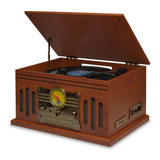 Toca Discos De Vinil Vitrola Radiola Vintage Retro Cd Fm Usb