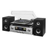 Toca discos Raveo Concert One Vitrola Rádio Cd Bluetooth Usb