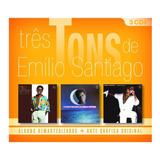 Três Tons De Emílio Santiago   3 Cds