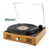Vitrola Toca Discos Vinil Retro Tampa Acrílico E Bluetooth