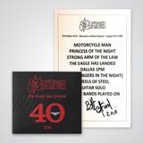 eagles-eagles Saxon Cd The Eagle Has Landed 40 Live Set List Autografado