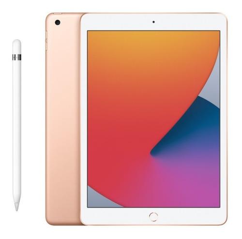 iPad 8ª Geração 32gb Dourado + Apple Pencil 1ª Original Nfe